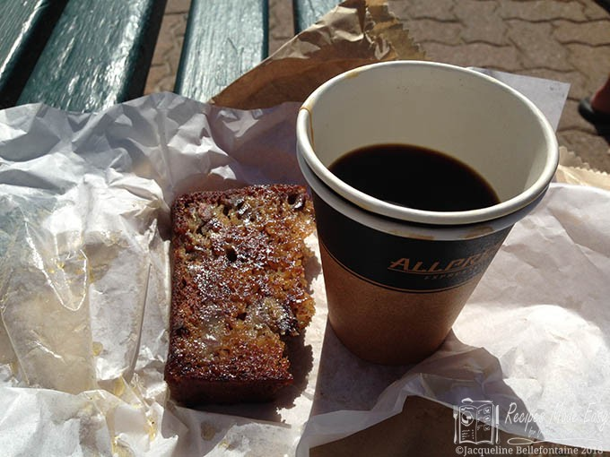 coffee and toasted bananna bread