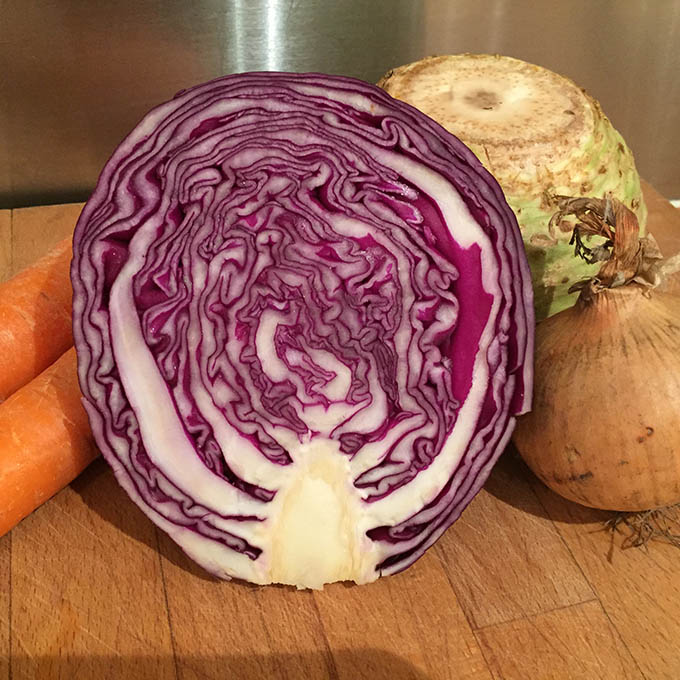vegetables for coleslaw