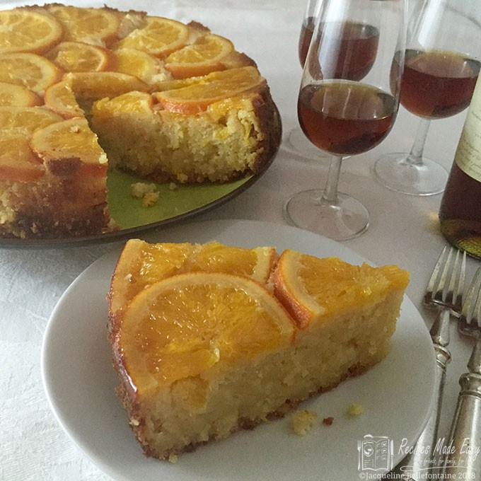 orange and almond polenta cake - a delicous moist gluten free cake