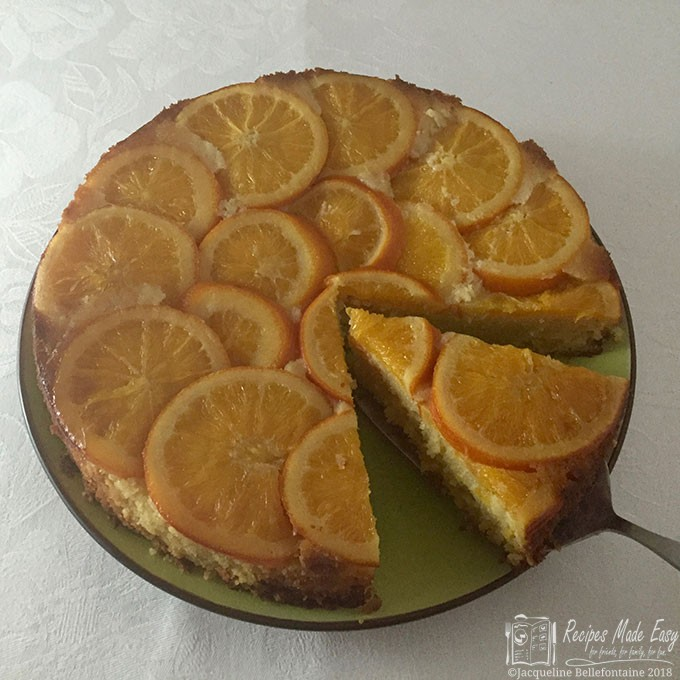 orange and almond polenta cake, a delicous moist gluten free cake