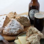 This Irish soda bread with it crispy crust and soft crumb is perfect for a ploughman lunch served with a pint of Guinness of course