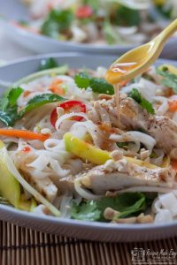 Chicken Noodle Salad with Chilli Dressing