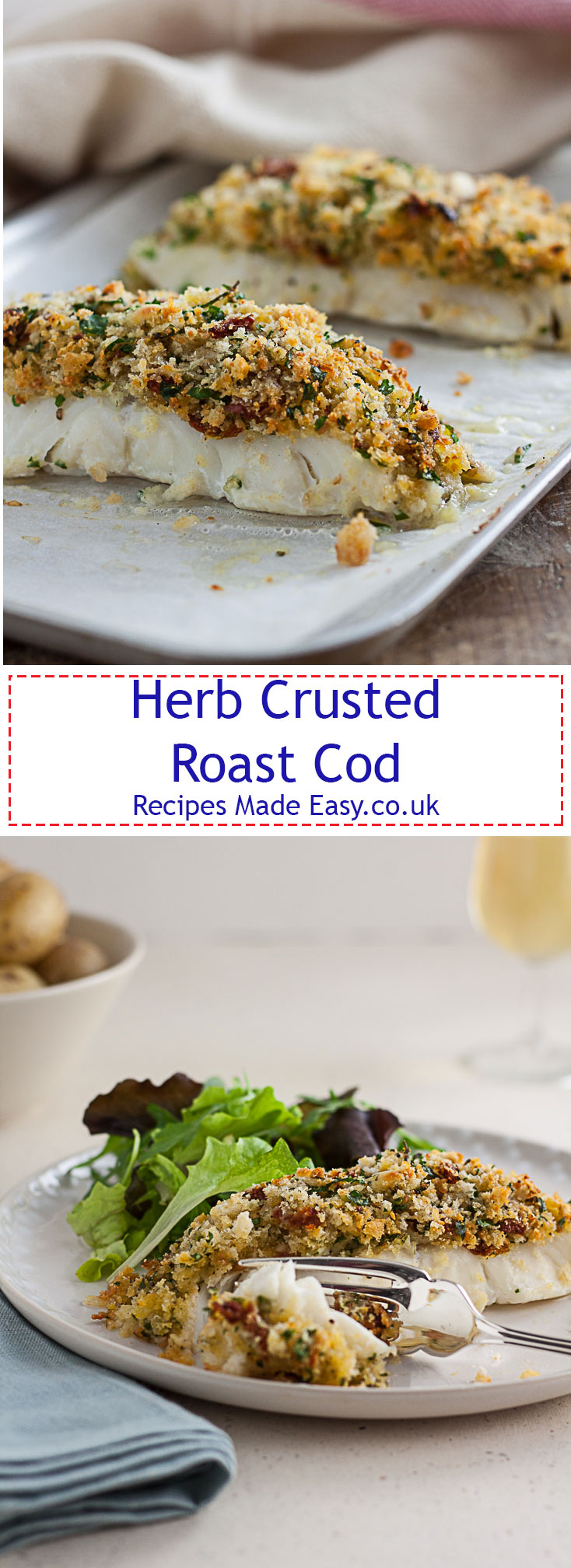 Herb crusted roast cod - Recipes Made Easy