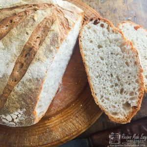 no-knead sourdough - sliced