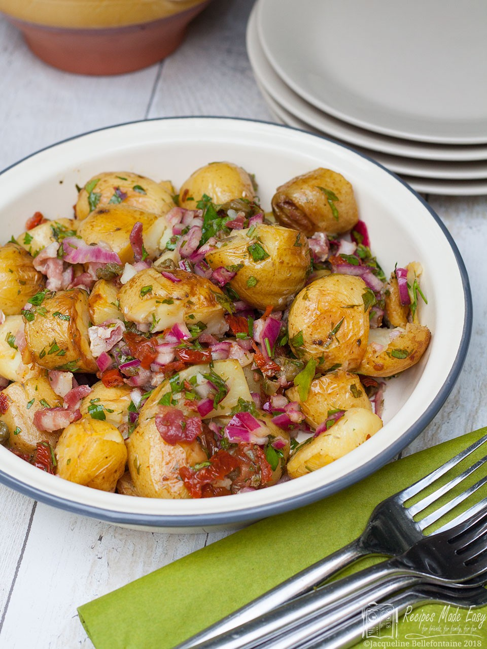 Piquant potato salad