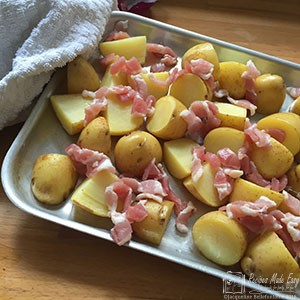 step by step piquant potato salad