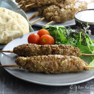 Middle Eastern style kebabs