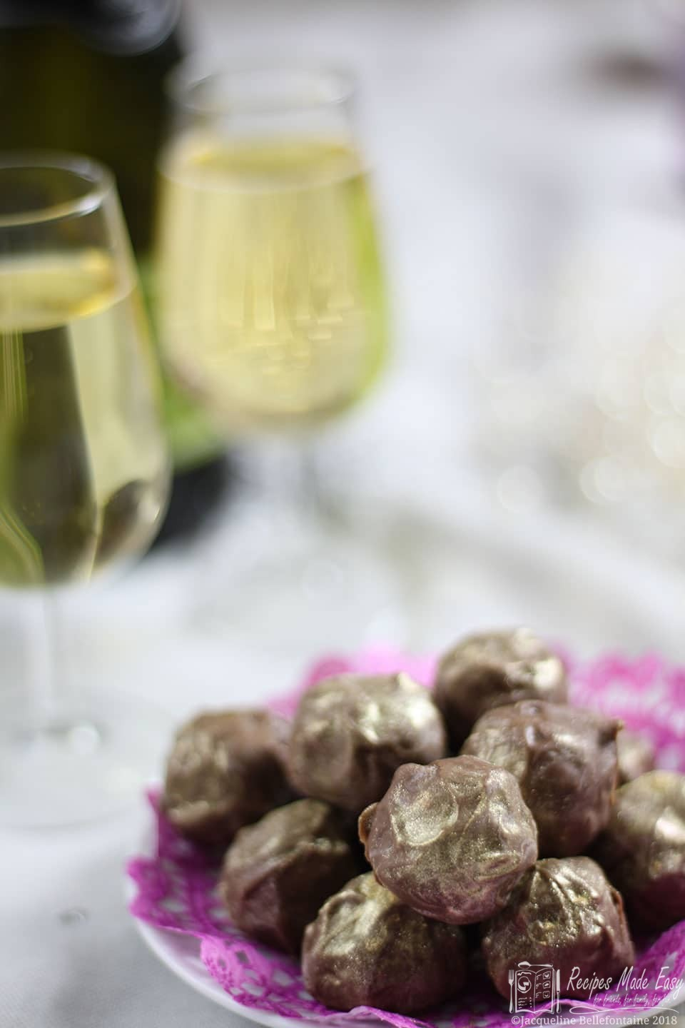 Prosecco truffles with a glass of prosecco recipes made easy