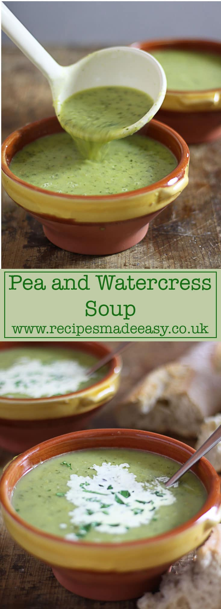 Recipes Made Easy - Pea and Watercress Soup – a deliciously easy to make soup.