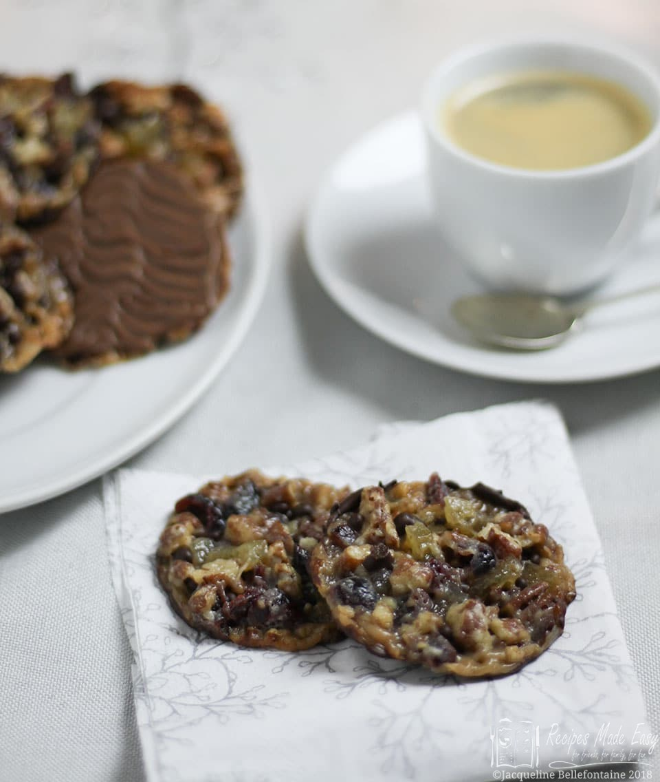 Recipes Made Easy - Pecan, Ginger and Cranberry Florentines