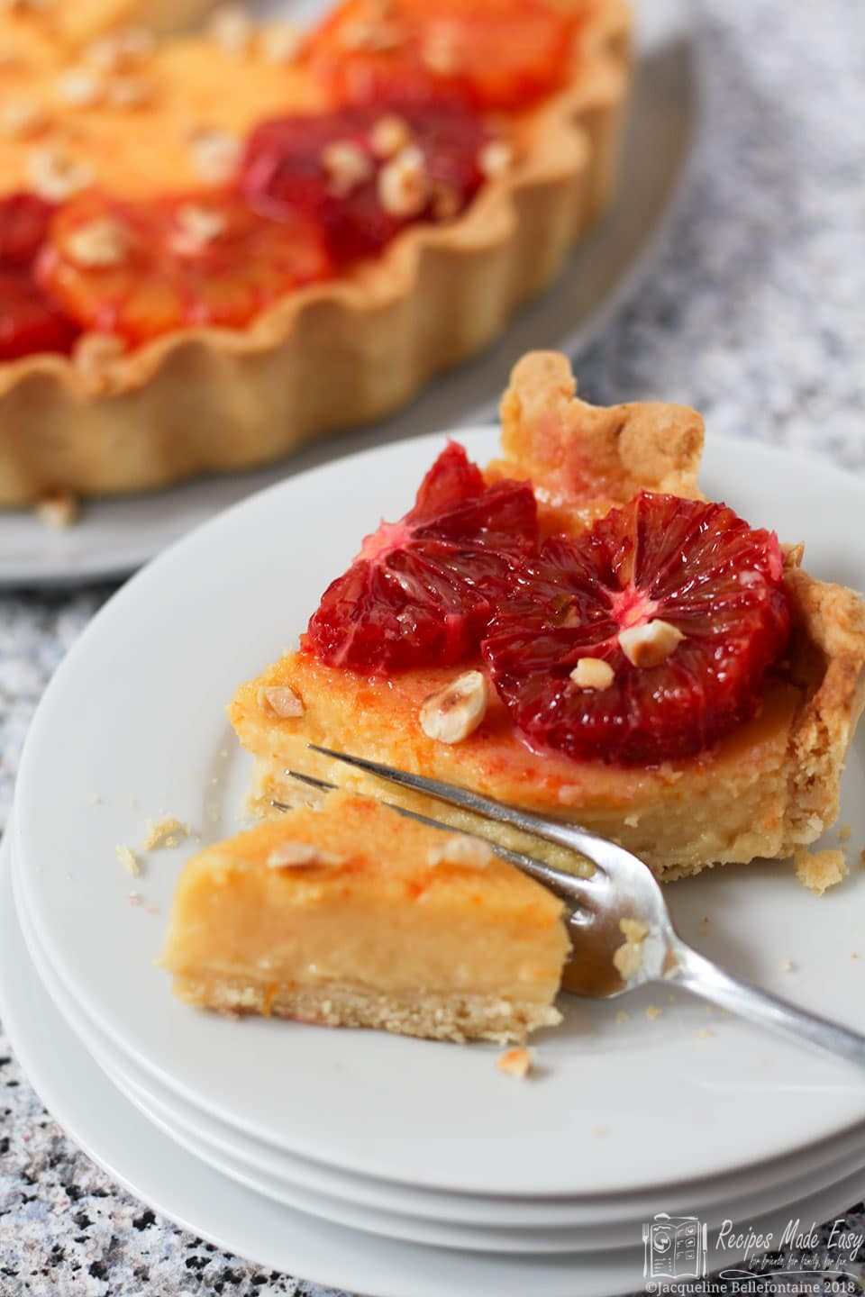 Recipes Made Easy Seville orange tart with blood oranges and hazelnuts