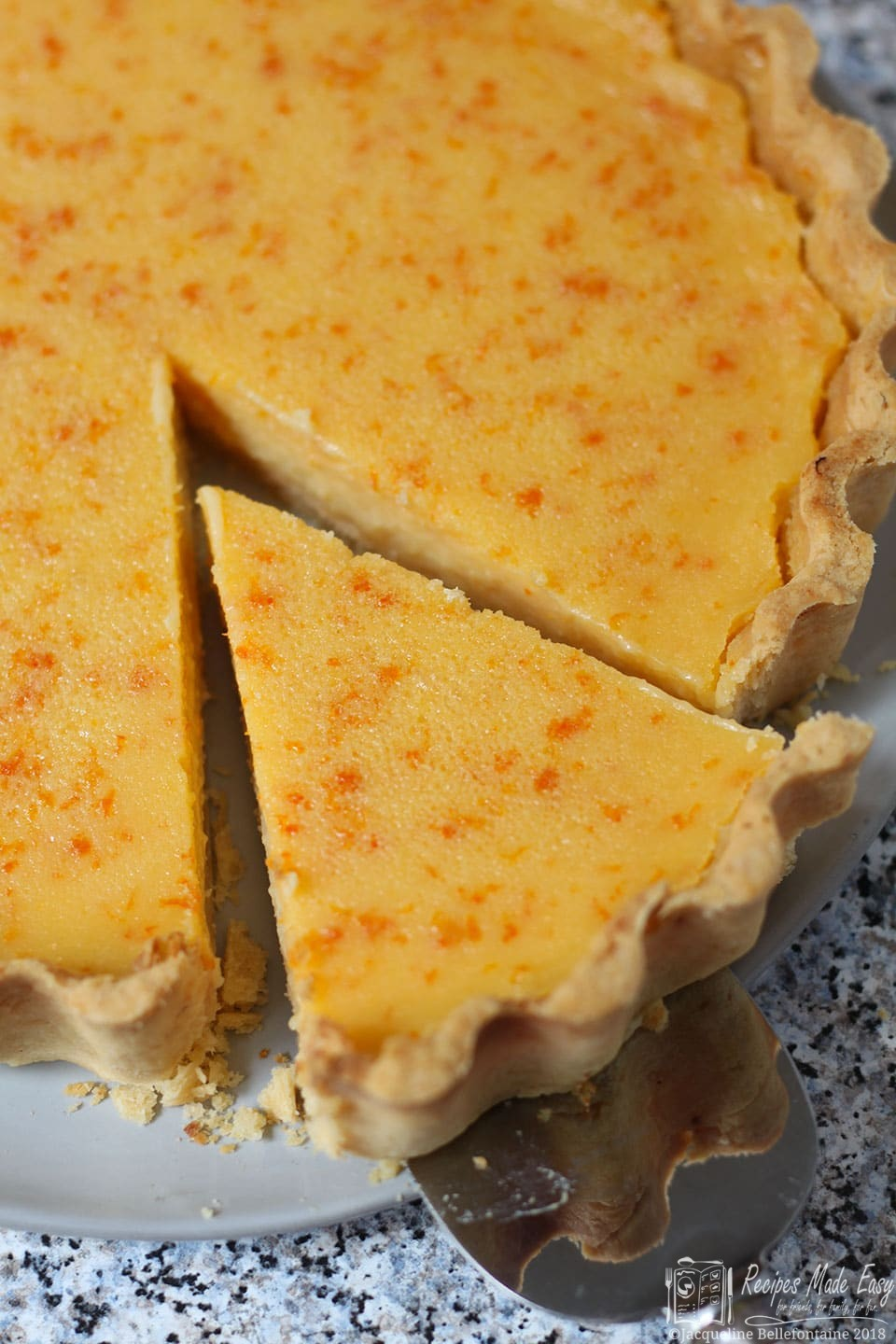Recipes Made Easy, seville orange tart