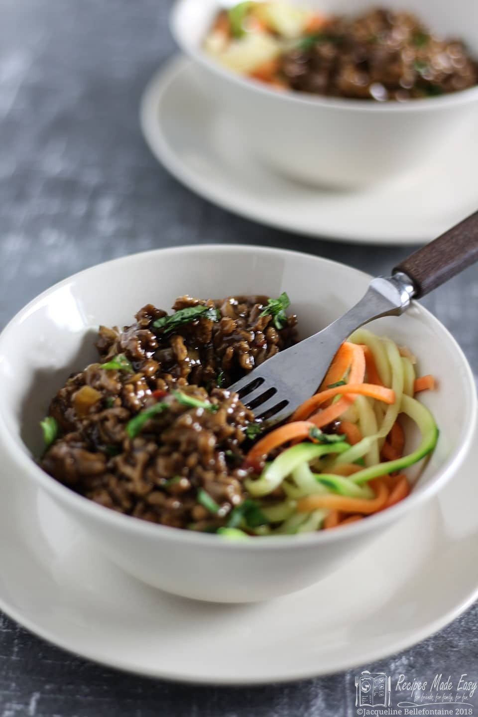 Easy oriental pork. A quick simple savoury minced pork packed with flavour. By recipesmadeeasy.co.uk