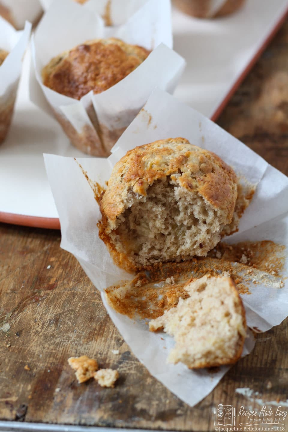 how to make banana muffins with plain flour
