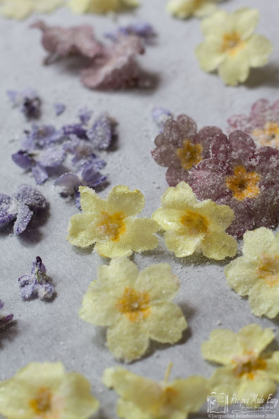 How to crystalise flowers, by Recipes Made Easy