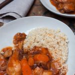 plated bowl of chicken muligatawny casserole by recipes made easy