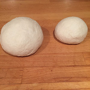 two balls of dough
